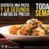 Italiannis Festa de la Pasta: segunda pasta a mitad de precio del 6 al 12 de julio