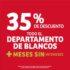 Julio Regalado 2020: 35% de descuento en departamento de blancos