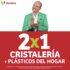 Julio Regalado 2020: 2×1 en cristalería y plásticos de hogar