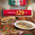 Nuevos Clásicos Italianos en Italianni's: Pizzas, pastas y paninis a $129 cada uno