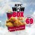 Nuevo paquete Wow Box KFC por sólo $69