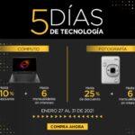 Promo Palacio de Hierro 5 Días de Tecnología del 27 al 31 de enero: hasta 50% de descuento + 9 msi