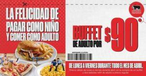 Cupón Sirloin Stockade: buffet de adulto a precio de niño