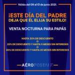 Venta Nocturna para Papás Aeropostale: Hasta 30% de descuento