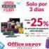 Promoción Office Depot: 30% de descuento en artículos de papelería, sillas, escritorios y muebles de oficina
