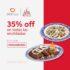 Promoción de la semana Didi Food: 35% de descuento en enchiladas en Sanborns + cupón envío gratis