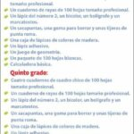 Lista útiles escolares Primaria ciclo escolar 2021-2022