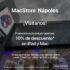 Promoción apertura MacStore Nápoles: 10% de descuento en iPad y en Mac